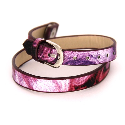 Floating Locket Lederen Armband Paars kopen