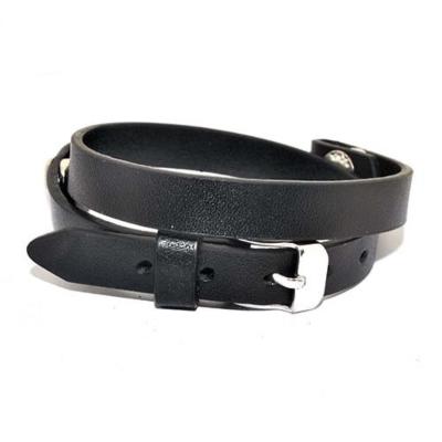 Floating Locket Lederen Armband Zwart kopen