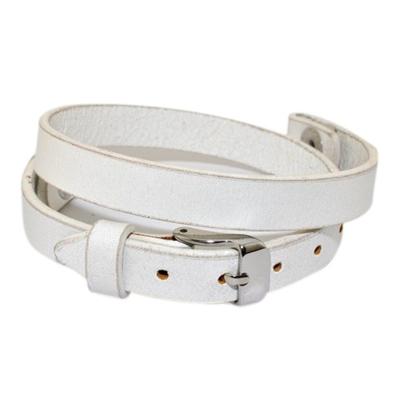 Floating Locket Lederen Armband Wit kopen