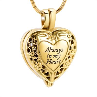 Ashanger Goudkleurige Hart Medaillon Always In My Heart RVS kopen