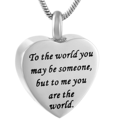 Ashanger Hartje To The World You Maybe Someone But To Me You Are The World RVS kopen