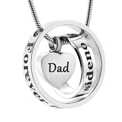 Ashanger Always In My Heart, Never Forgotten - Dad RVS (incl ketting) kopen