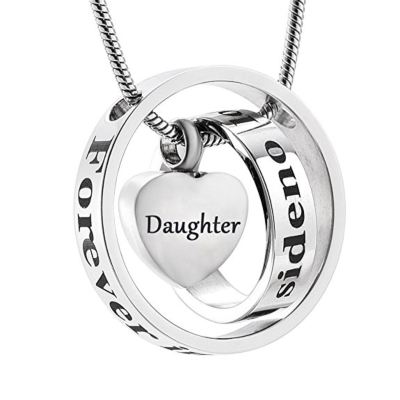 Ashanger Forever In My Heart, No longer By My Side - Daughter RVS (incl ketting) kopen