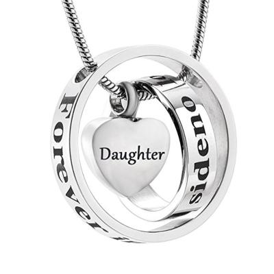 Ashanger Always In My Heart, Never Forgotten - Daughter RVS (incl ketting) kopen