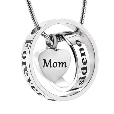 Ashanger Always In My Heart, Never Forgotten - Mom RVS (incl ketting) kopen