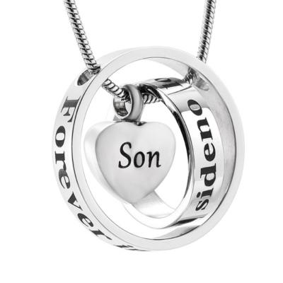 Ashanger Always In My Heart, Never Forgotten - Son RVS (incl ketting) kopen