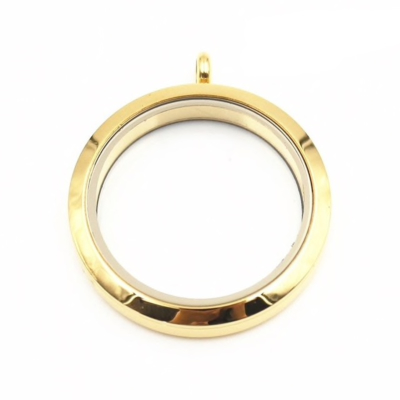 Floating Locket Medaillon Goudkleurig TWIST XL 34mm (RVS/Edelstaal) kopen