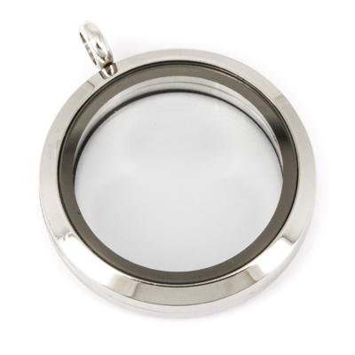 Memory Locket Medaillon 30mm (RVS/Edelstaal) kopen