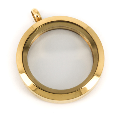 Memory Locket Twist Medaillon Goudkleurig 30mm (RVS/Edelstaal) kopen