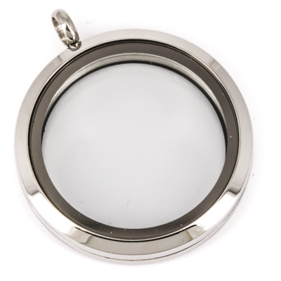 Floating Locket Medaillon XL 34mm (RVS/Edelstaal) kopen