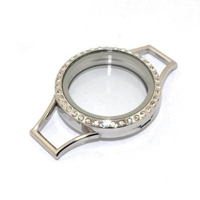 Memory Locket voor de Lederen Armband Kristal 30mm (RVS/Edelstaal) kopen