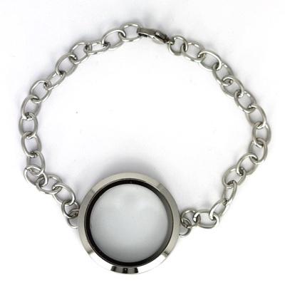 Memory Locket Armband Zilverkleurig 30 mm (Edelstaal/RVS) kopen