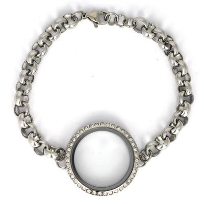 Memory Locket Armband Zilverkleurig Kristal 30 mm (Edelstaal/RVS) kopen