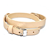 Floating Locket Lederen Armband Beige