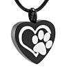 Ashanger Black Heart with White Paw RVS