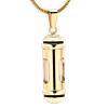 Ashanger Glas Cilinder RVS