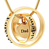 Ashanger Goudkleurig Forever In My Heart, No longer By My Side - Dad RVS (incl ketting)