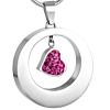 Ashanger Zilverkleurig Ring met Roze Hartje RVS
