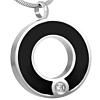 Ashanger Zwart Cirkel Ring Zirkonia RVS