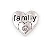 Floating Charm 3D Hart Family