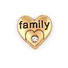 Floating Charm 3D Hart Family Goudkleurig