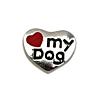 Floating Charm Hart Love My Dog