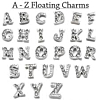 Floating Charm Letter Zilverkleurig