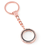 Memory Locket Sleutelhanger Kristal Rose 30mm