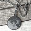 Graveerhanger Foto Rond met Fotogravure Graveren Zilverkleurig Edelstaal/RVS