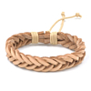 Heren Gevlochten Armband Light Brown 17-21cm
