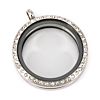 Memory Locket Medaillon Kristal 30mm (RVS/Edelstaal)