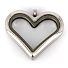 Floating Locket Hart 35mm (Edelstaal/RVS)