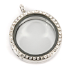 Memory Locket Medaillon Kristal Strass 30mm