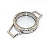 Memory Locket voor de Lederen Armband Kristal 30mm (RVS/Edelstaal)