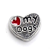 Floating Charm Hart Love My Dogs