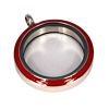 Memory Locket Medaillon Twist Rood 30mm (RVS/Edelstaal)