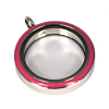 Memory Locket Medaillon TWIST Roze 30mm (RVS/Edelstaal)