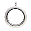 Floating Locket Medaillon TWIST Sparkle Zilverkleurig XL 34mm (RVS/Edelstaal)
