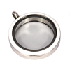 Memory Locket Medaillon Twist Wit 30mm (RVS/Edelstaal)