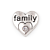 Floating Charm 3D Hart Family kopen