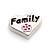 Floating Charm Hart Family Met Bloem kopen