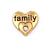 Floating Charm 3D Hart Family Goudkleurig kopen
