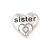 Floating Charm 3D Hart Sister kopen