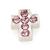 Floating Charm Kruis Zilverkleurig met Roze Steentjes kopen
