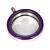 Memory Locket Medaillon Twist Paars 30mm (RVS/Edelstaal) kopen