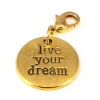 Dangle Live Your Dream Goud