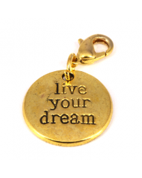 Dangle Live Your Dream Goud -