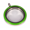 Memory Locket Medaillon Twist Groen 30mm (RVS/Edelstaal)