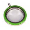Memory Locket Medaillon Twist Groen 30mm (RVS/Edelstaal)