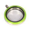 Memory Locket Medaillon Twist Lichtgroen 30mm (RVS/Edelstaal)
